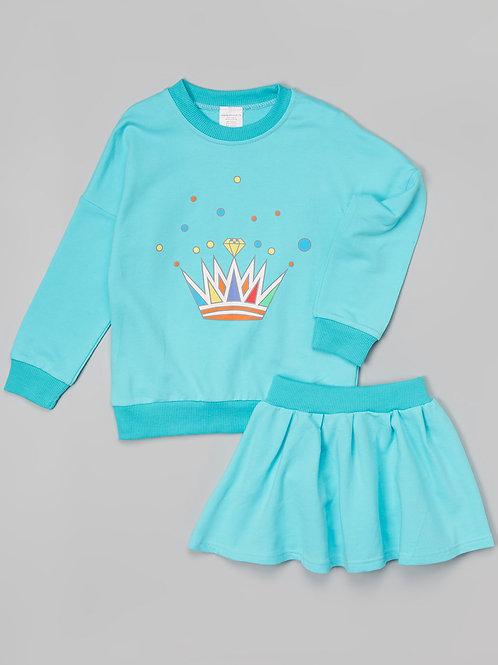 Blue skirt set -R