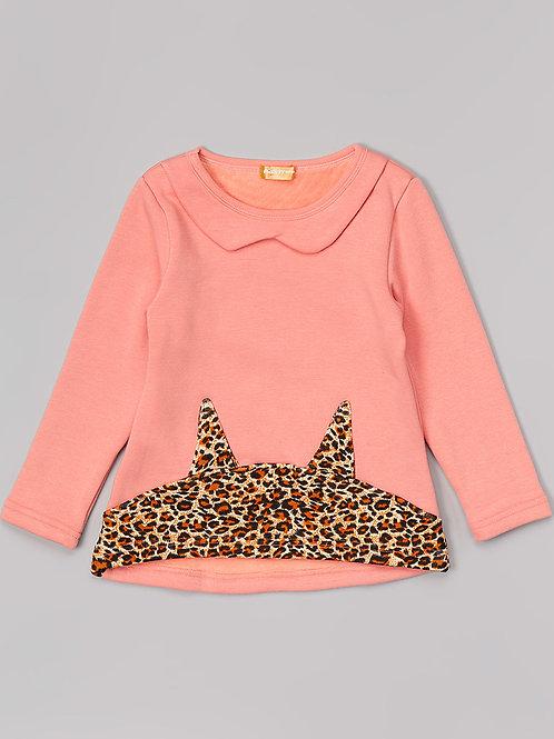 Pink Sweatshirt with Animal Prints -R