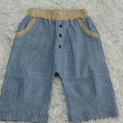 Chambray Pin Strips Shorts