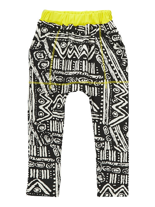 Yellow Geo Harem Pants - R