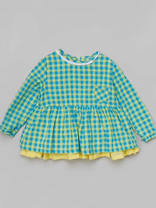 Green Plaid Pocket Tunic -R