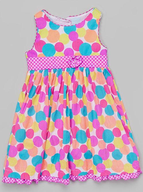 Pink Polka Dot Dress -R