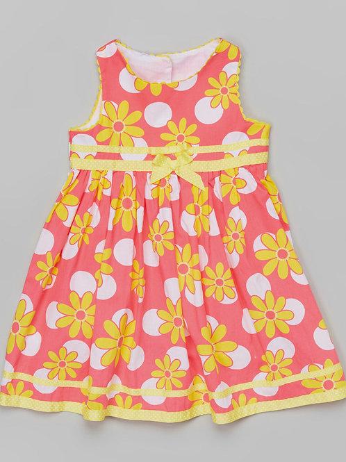 Pink & Yellow Dress -R