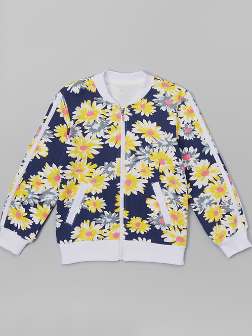 Black Daisy Jacket -R