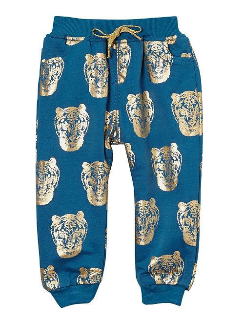 Blue & Gold Tiger Harem Pants - R
