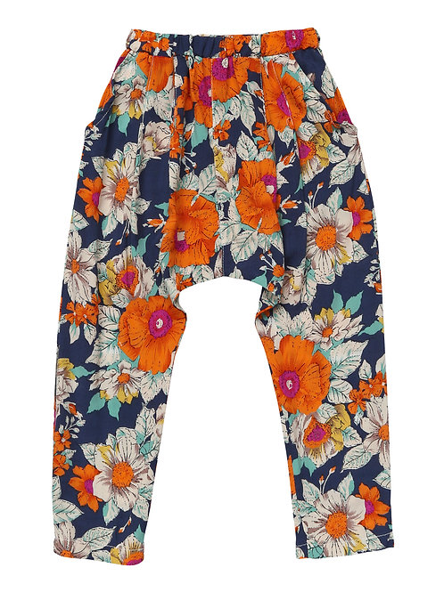 Blue Floral Harem Pants - R