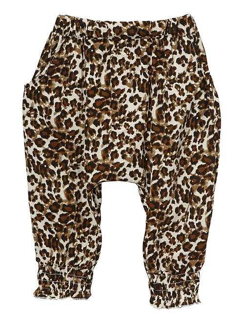 Brown & Tan Leopard Harem Pants -R
