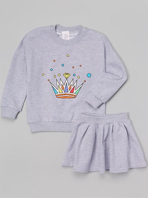 Gray Skirt Set -R
