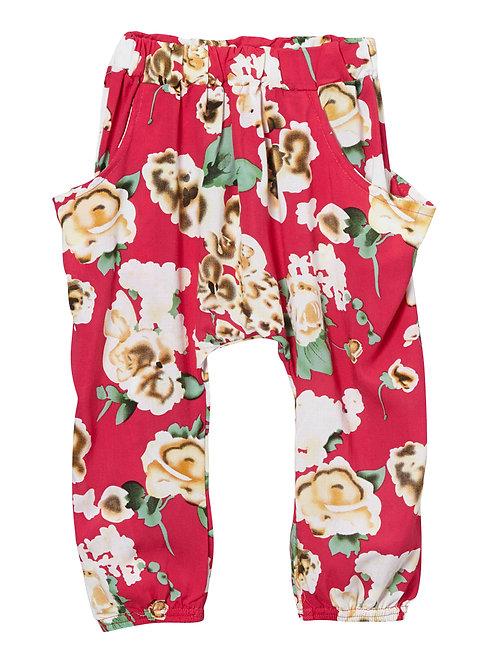 Pink Floral Harem Pants - R