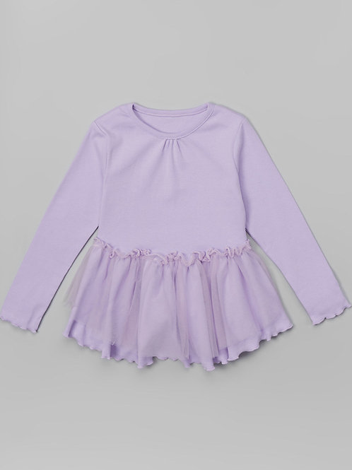 Purple  Overlay Dress -R