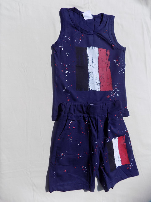 Art Flag Pants Set - R