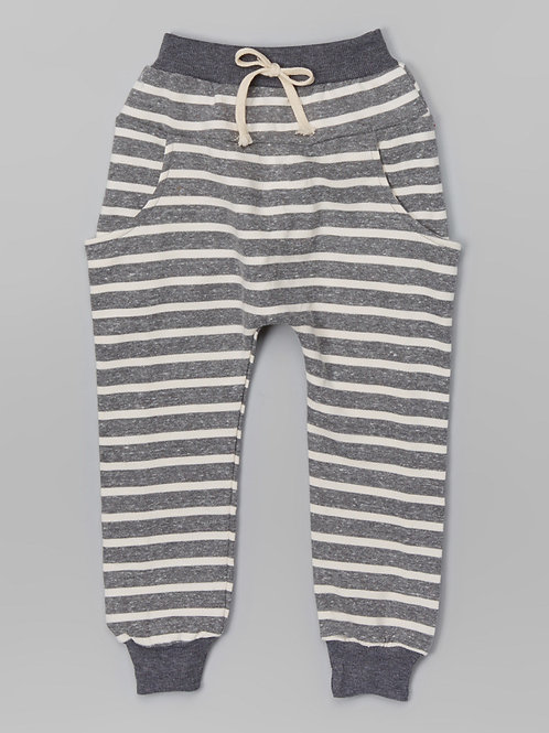 Heather Gray Stripe Harem Pants - R