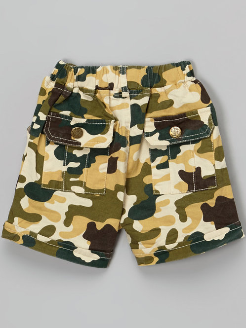 Green Brown Camo Short with Back pockets -R