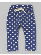 Dark Blue Polka Dot Harem Pants -R