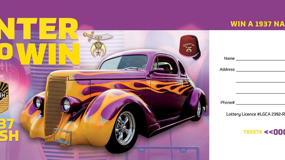 1937 Nash Car Raffle Ticket