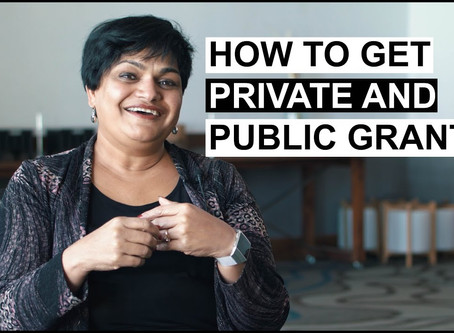 How to Get Private and Public Grants with Rajshree Agarwal