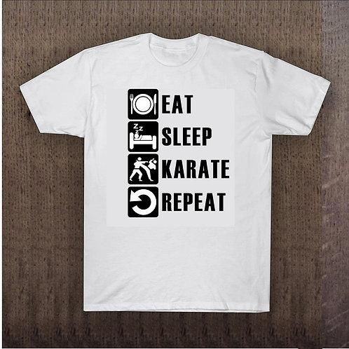 Camisa Eat-Sleep-Karate-Repeat