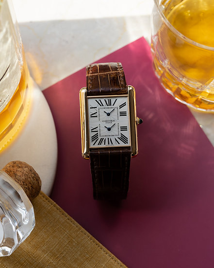 Cartier Tank Dual Time CPCP in Pink Gold