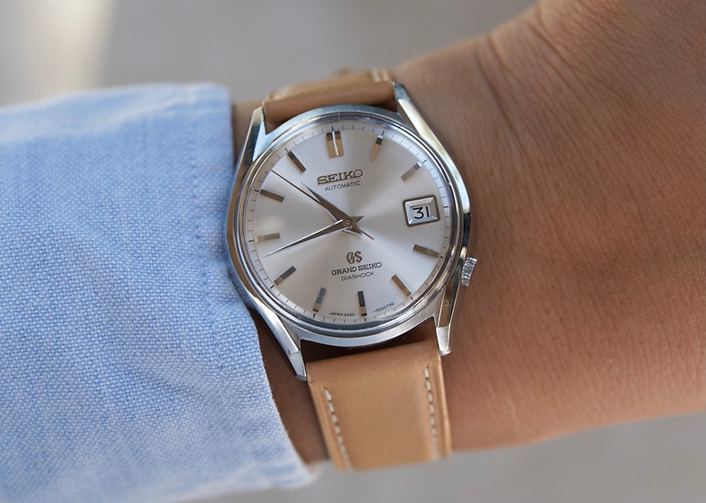 Grand Seiko 6245-9000 with clear caseback
