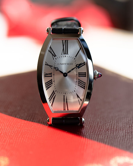 Cartier Tonneau Platinum from Collection Prive, limited edition 100 pieces