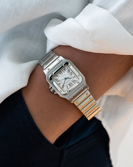Cartier Santos Galbee LM from 2001 full set