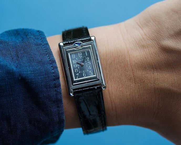 Cartier Tank Basculante black dial
