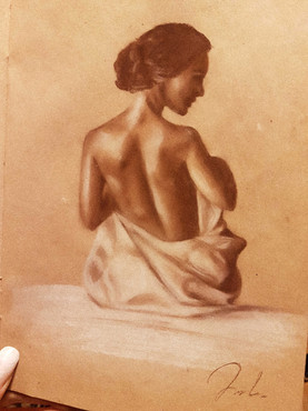 Figure drawing woman study
