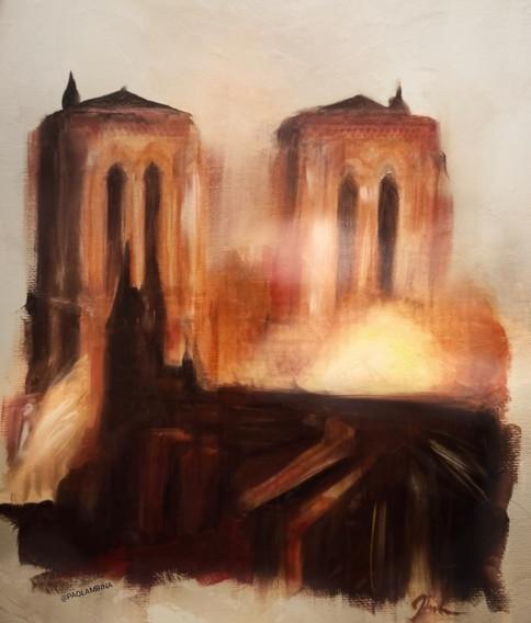 Ashes - Paolambina Burning Cathedral