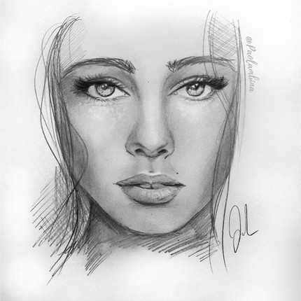 young girl drawing illustration