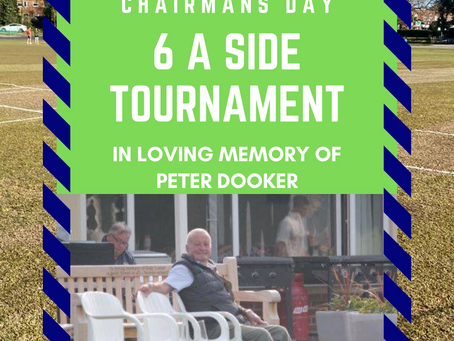 4th Sep - Chairmans Day - Peter Dooker Memorial Day