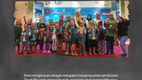 Membuat Tanjak Riau sebagai bentuk kepedulian terhadap anak-anak yang terkena kanker