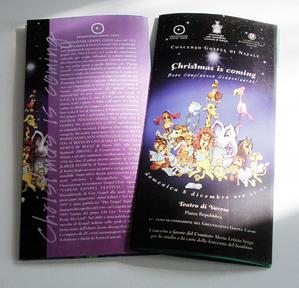"Programma concerto ""Christmas is Coming"" 2008"