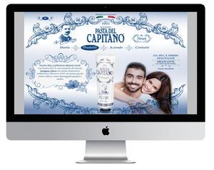 """Sito web """"Pasta del Capitano"""" 2015"""