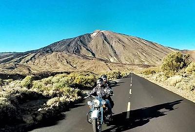 Teide/Tenerife on Harley Davidson