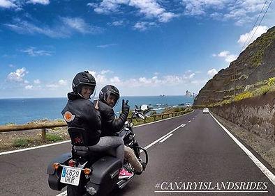 Taganana on a Harley Davidson #canaryislansrides