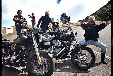 Discover Los Gigantes on a Harley Davidson