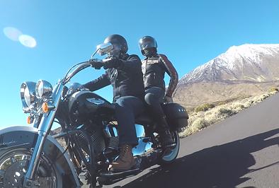 Teide Tenerife on Harley Davidson #canaryislandsrides