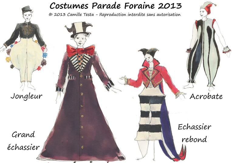 Costumes parade cirque