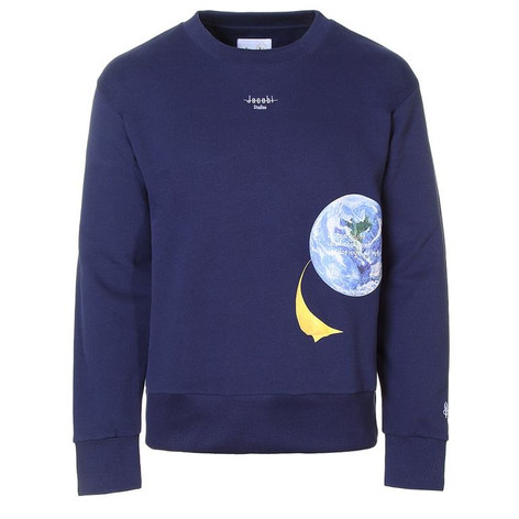 SHOP Crewneck Sweatshirt Blue