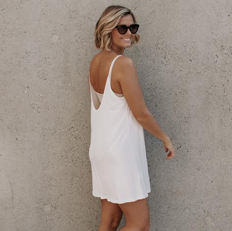 SHOP Luna Dress White