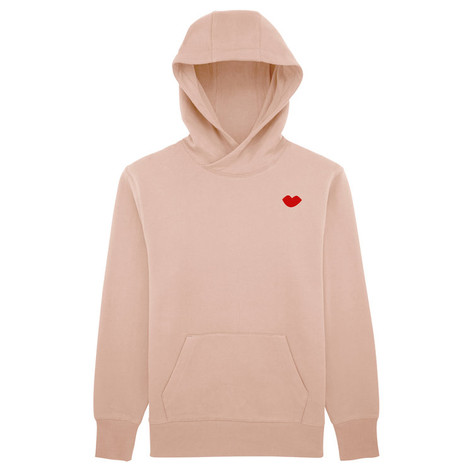 SHOP Kiss Hoodie Faded Nude