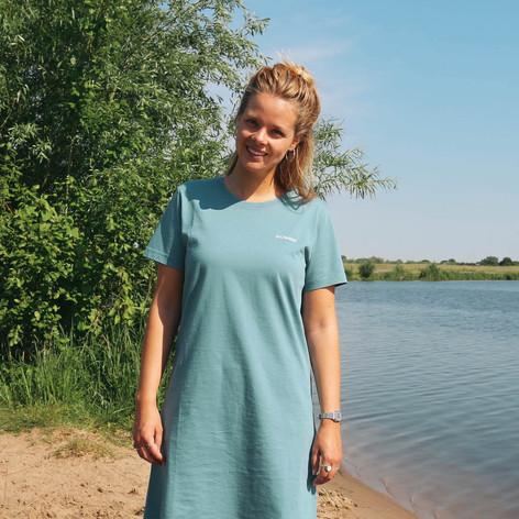 SHOP T-Shirt Dress Tilda Light Blue