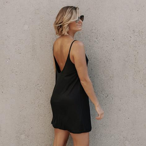 SHOP Luna Dress Black