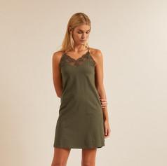 SHOP Lace Dress Khaki