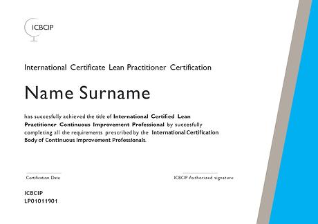 ICBCIP Lean Practitioner certification
