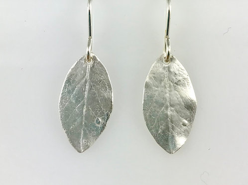 Small Blueberry Leaf Earrings