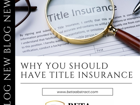 Why You Should Have Title Insurance