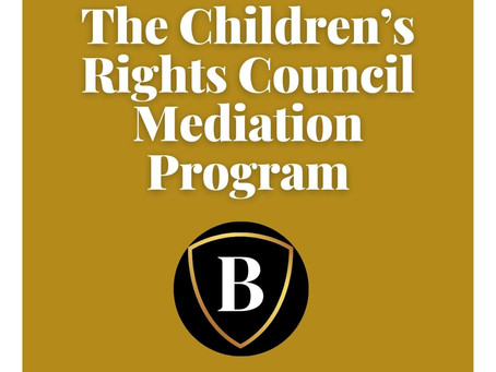 The Children's Rights Council Mediation Program