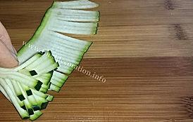 Zucchini decorating  / step by step zucchini garnishing