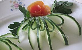 food decoration / cucumber garnish